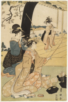 Brooklyn_Museum_-_Young_Samurai_and_Female_Attendants_Practicing_Archery_Half_of_a_Diptych_-_Utagawa_Toyokuni_I