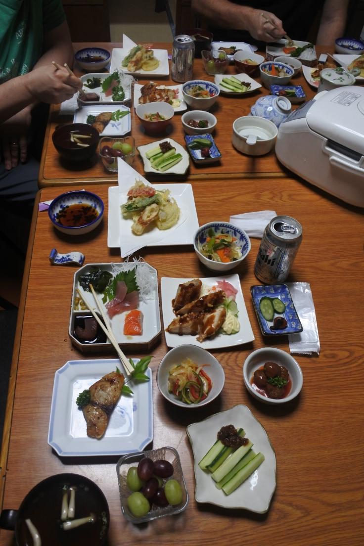 Dinner at Minshuku Momofuku.